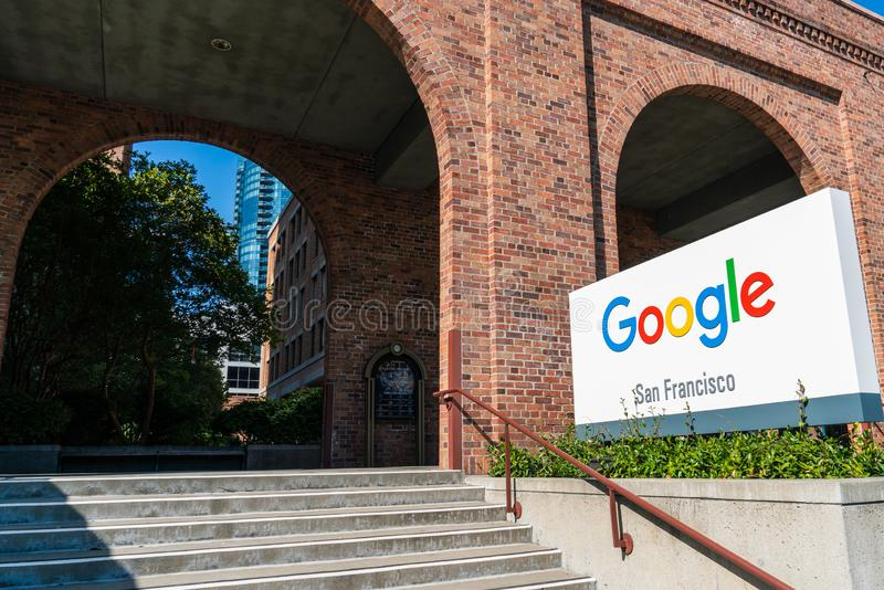 August 21, 2019 San Francisco / CA / USA - Google headquarters in the SOMA District stock images