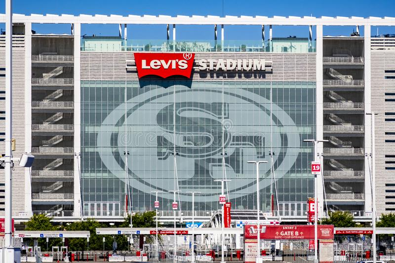 August 1, 2019 Santa Clara / CA / USA - Levi`s Stadium, the New Home Of The San Francisco 49ers of the National Football League;. Silicon Valley royalty free stock image