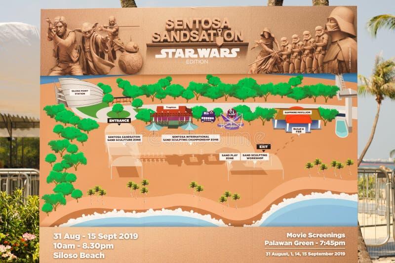 31 August 2019 Sentosa Sandsation Signboard royalty free stock images