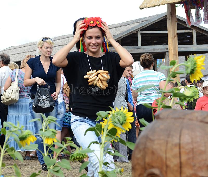 August 18, 2012 - Sorochinsky Fair - a traditional annual fair located in Poltava region, in the village of Sorochintsy, Myrhorod stock photos