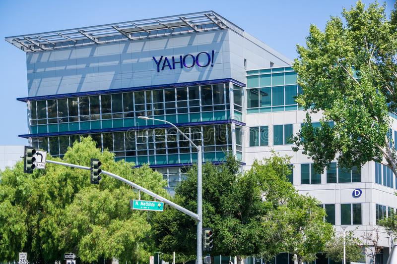 Yahoo headquarters in Silicon Valley royalty free stock photo