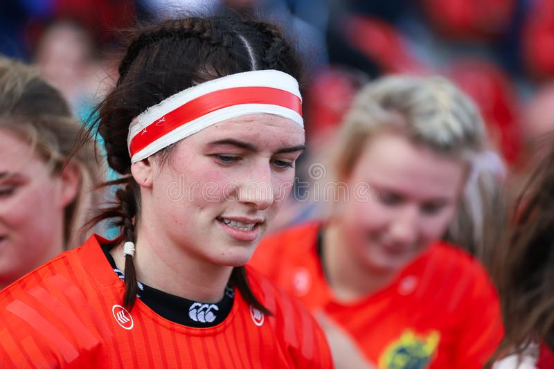 Munster Women Rugby 38 vs Ulster Women Rugby 12 match at the Irish Independent Park stock photo