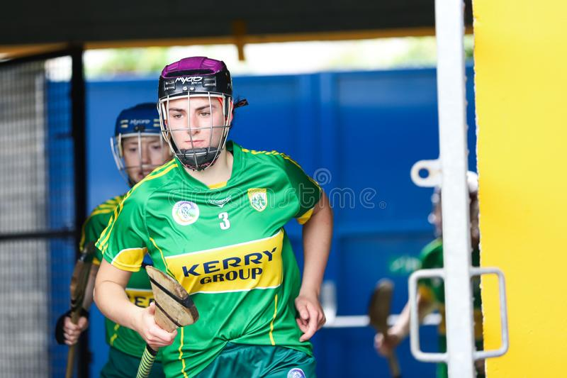 All-Ireland Premier Junior Championship Semi-Final between county Clare and county Kerry stock photography