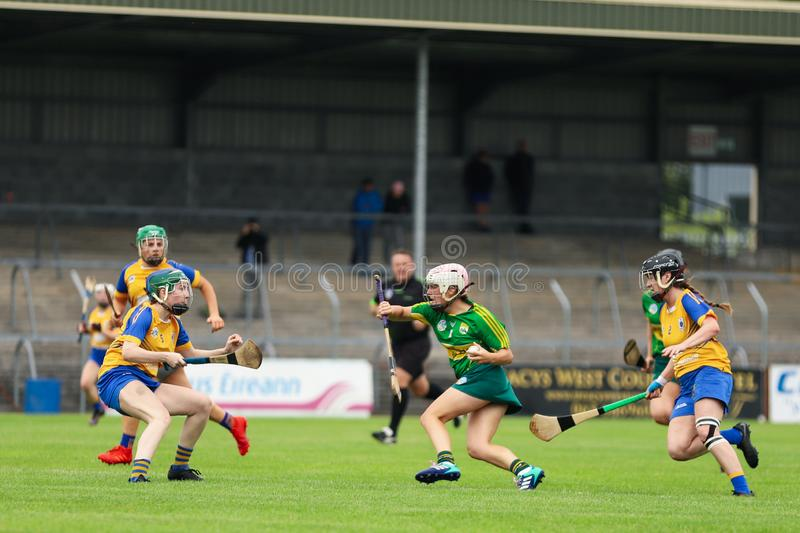 All-Ireland Premier Junior Championship Semi-Final between county Clare and county Kerry royalty free stock image