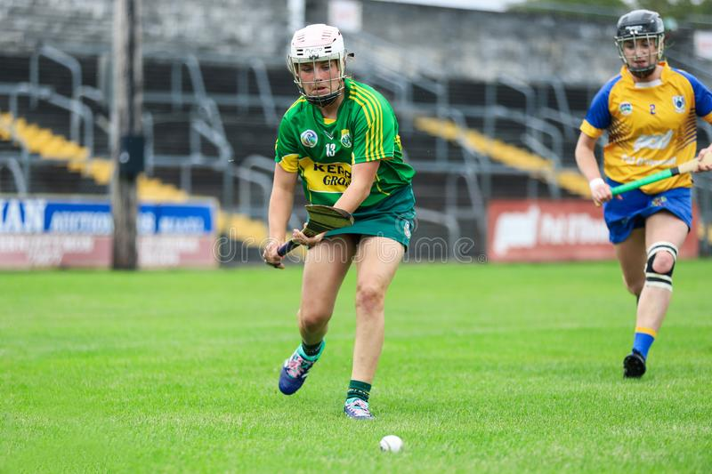 All-Ireland Premier Junior Championship Semi-Final between county Clare and county Kerry royalty free stock photo