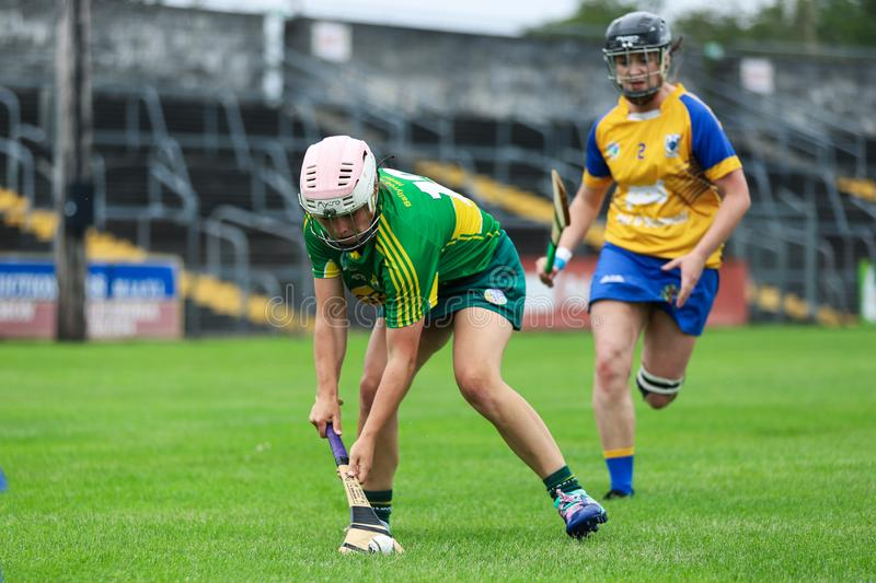 All-Ireland Premier Junior Championship Semi-Final between county Clare and county Kerry stock photos