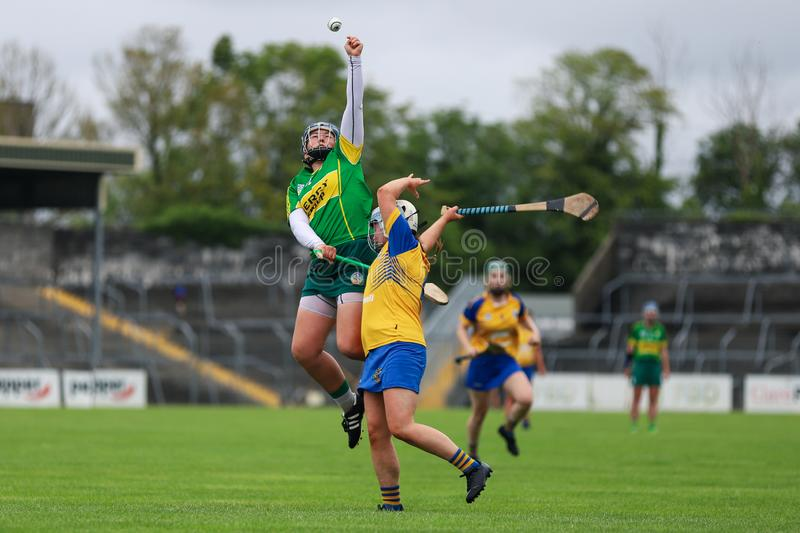 All-Ireland Premier Junior Championship Semi-Final between county Clare and county Kerry stock photo