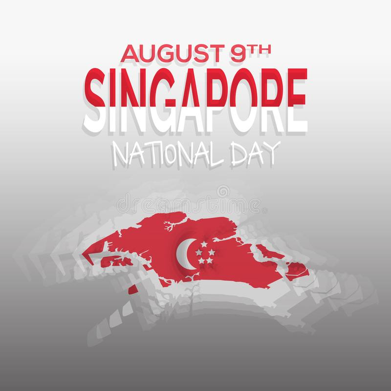 August 9th Singapore`s independence day celebration background. vector illustration EPS 10. N royalty free illustration