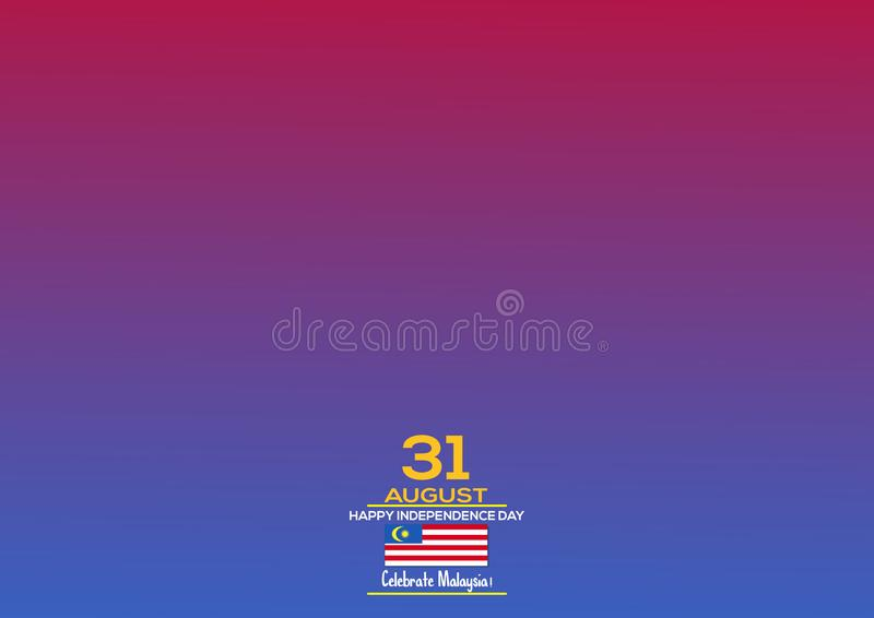 31 August - Vector illustration Malaysia Independence Day Patriotic Design. Happy Independence Day Vector Greeting Card. royalty free illustration