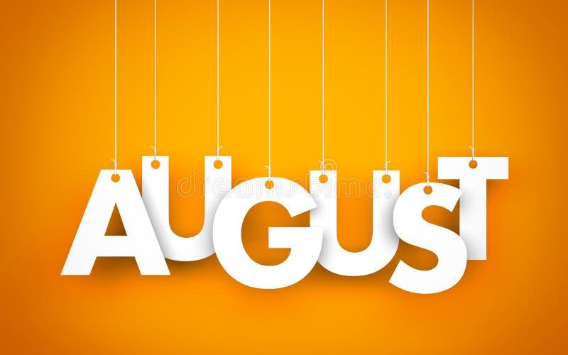 Download August stock illustration. Illustration of page, symbol - 56791527