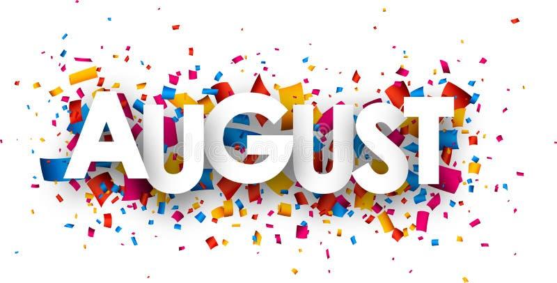 August-Zeichen lizenzfreie abbildung