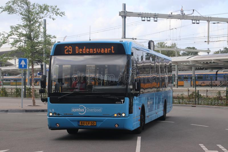 Local bus line 29 heading to Dedemsvaart at Zwolle station royalty free stock images