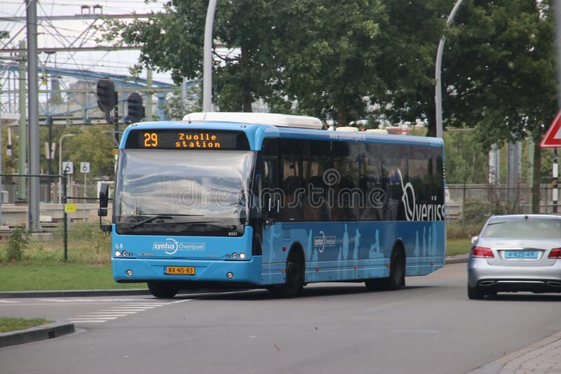 Local bus line 29 heading to Dedemsvaart at Zwolle station stock image