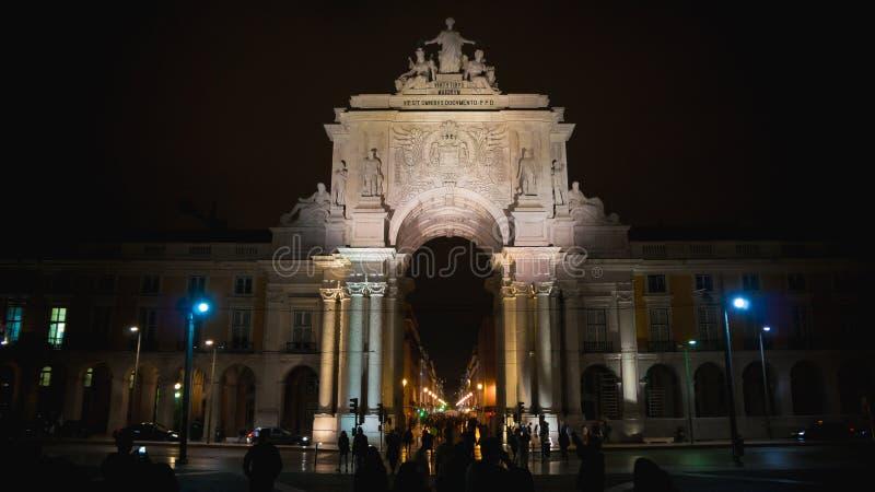 Augusta Arch, Lisbona, Portogallo immagine stock libera da diritti