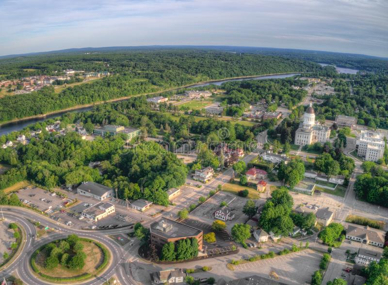 Download Augusta Is The Capitol Of Maine Aerial View Taken From Drone In Stock Photo