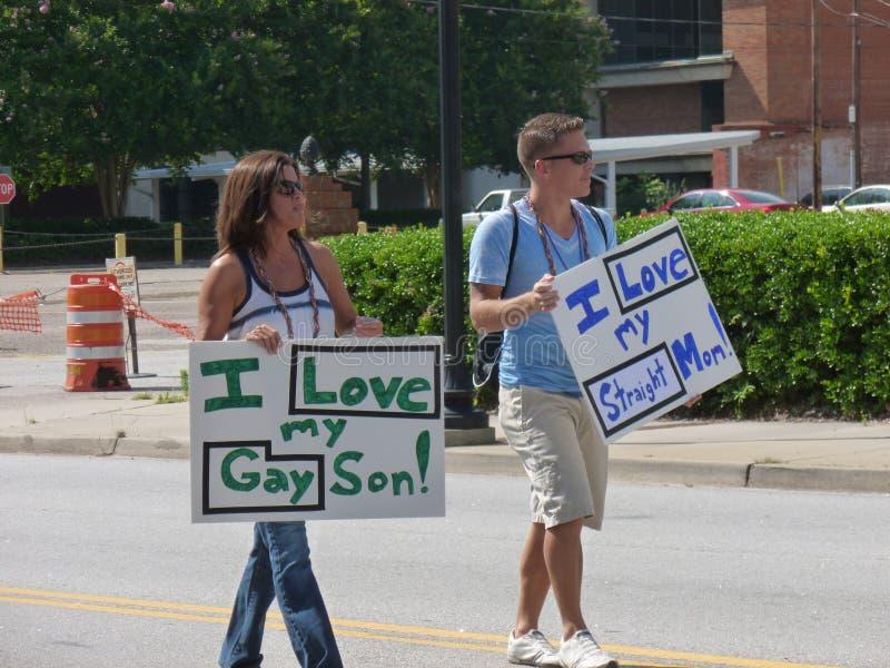 Augusta Gay Pride Parade stockfotografie