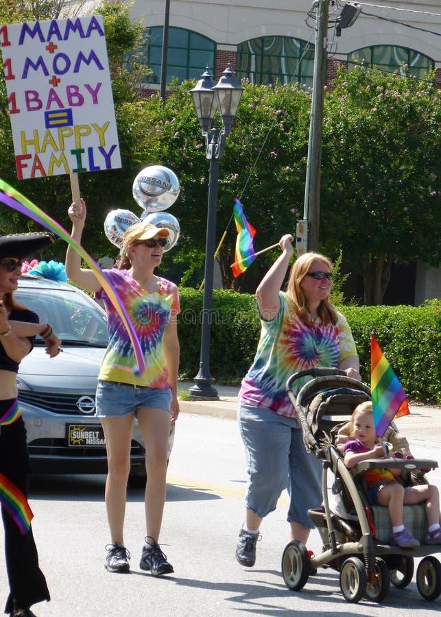 Augusta Gay Pride Parade stockbilder
