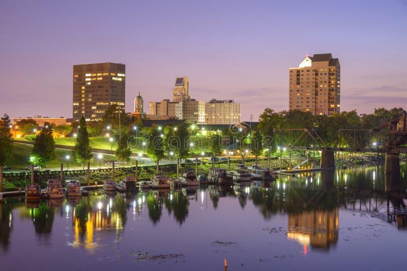 Augusta, Georgië horizon stock fotografie