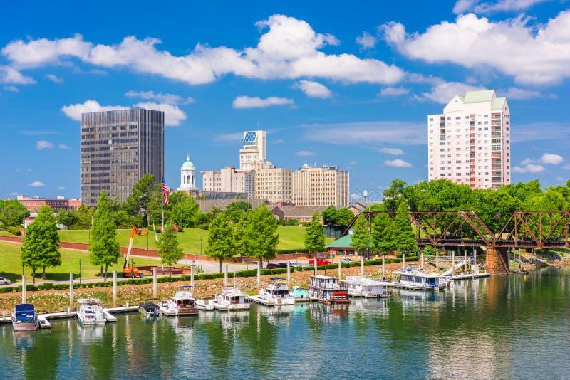 Augusta, Georgia, горизонт США стоковые изображения