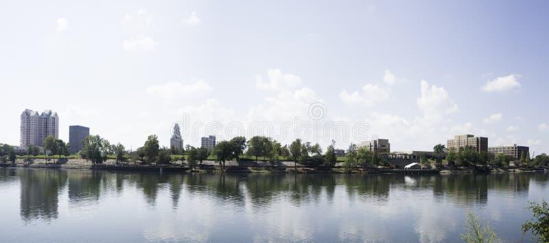 Augusta Georgia Skyline fotografia stock libera da diritti