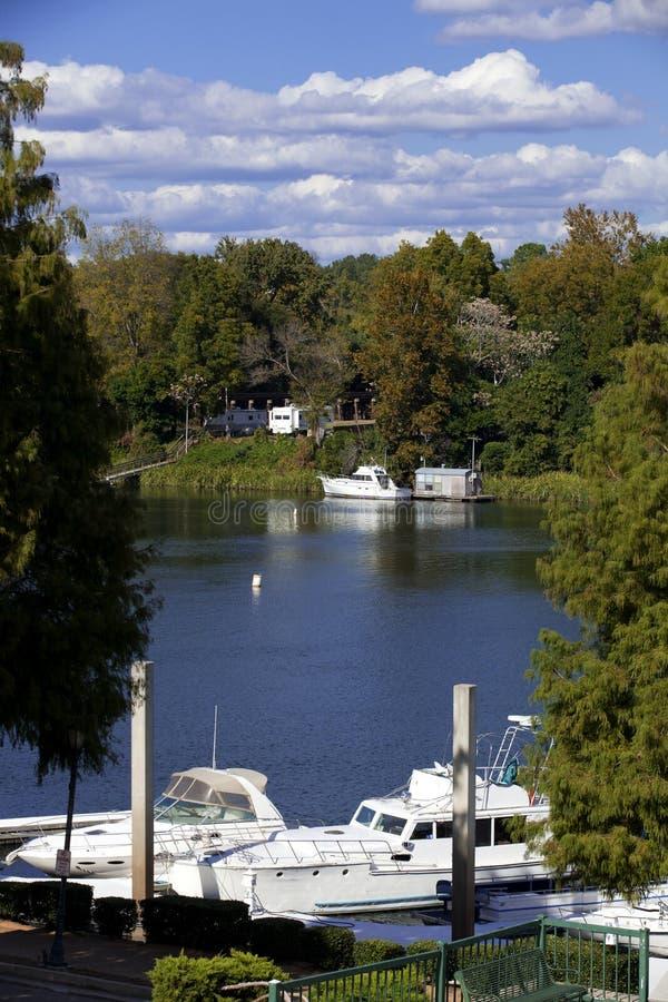 Augusta, Georgia Waterfront foto de archivo libre de regalías