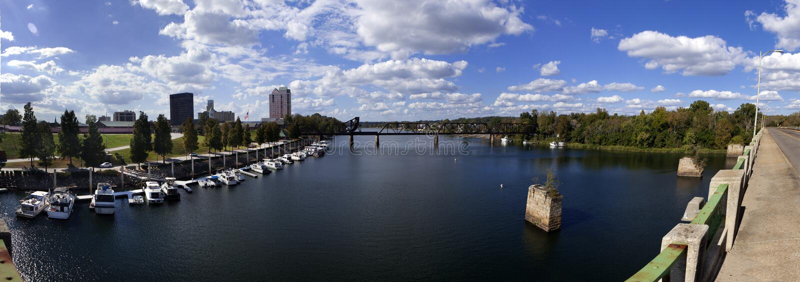 Augusta, Georgia Waterfront panorámica fotos de archivo