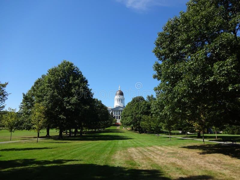 Augusta, Maine Capitol fotografia stock libera da diritti