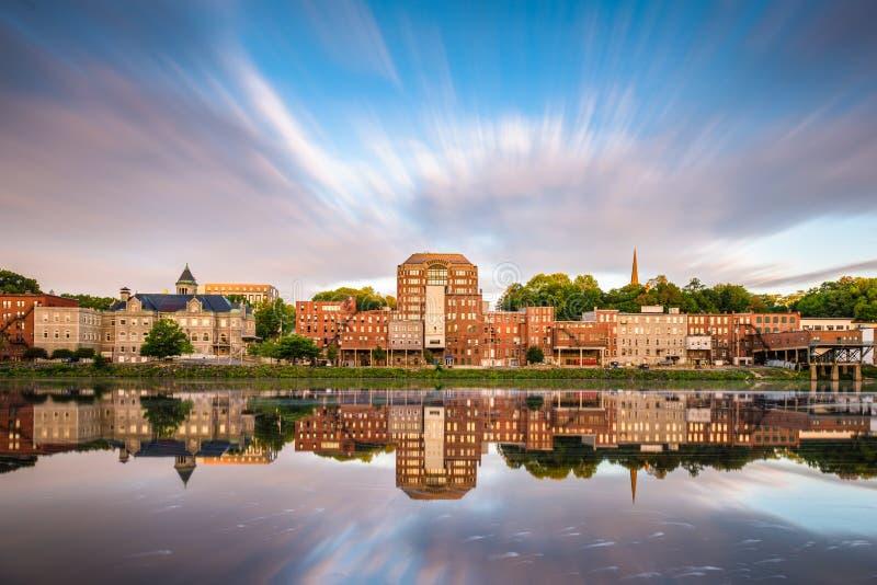 Augusta, Maine, de V.S. stock afbeeldingen