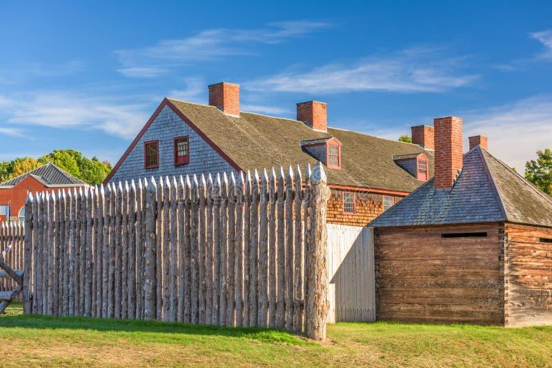 Augusta, Maine, fuerte viejo de los E.E.U.U. fotografía de archivo