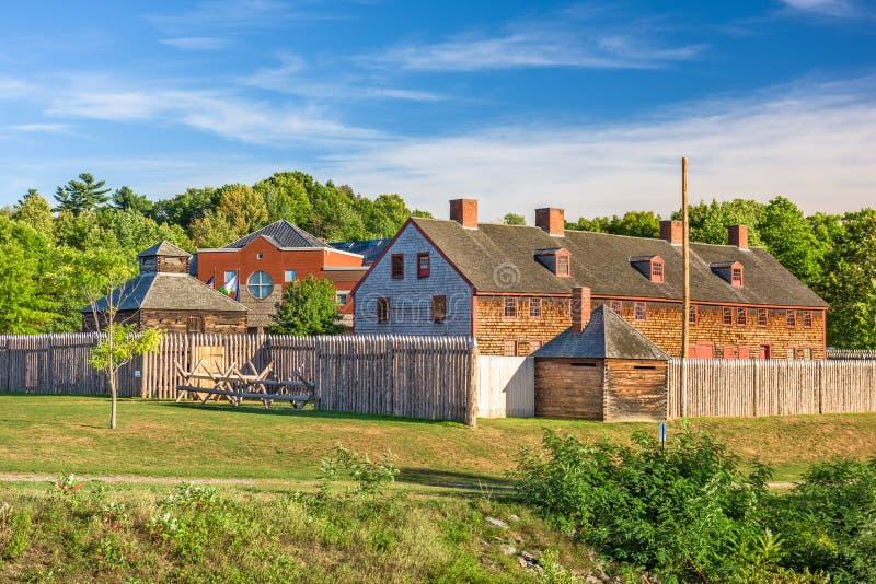 Augusta, Maine, fuerte viejo de los E.E.U.U. fotos de archivo