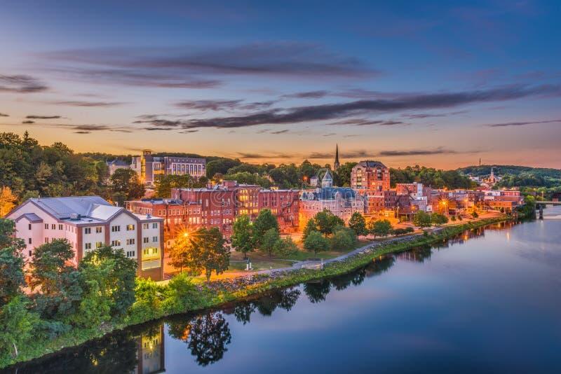 Augusta, Maine, orizzonte di U.S.A. immagini stock
