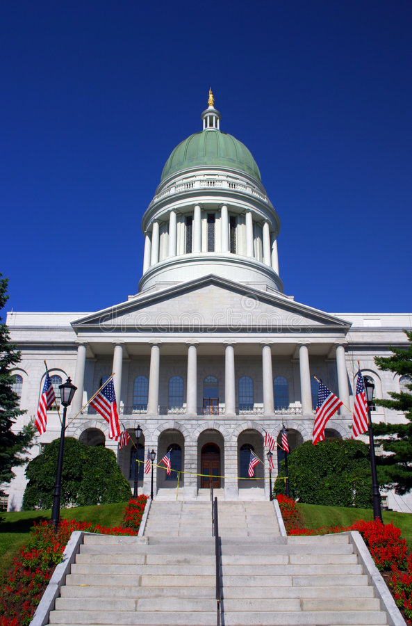 augusta Maine państwa domu obraz royalty free