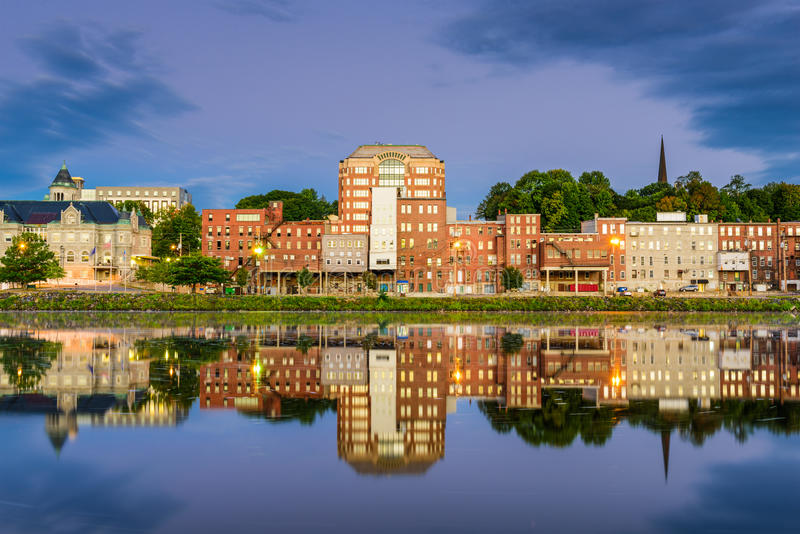 Augusta, Maine River immagine stock libera da diritti