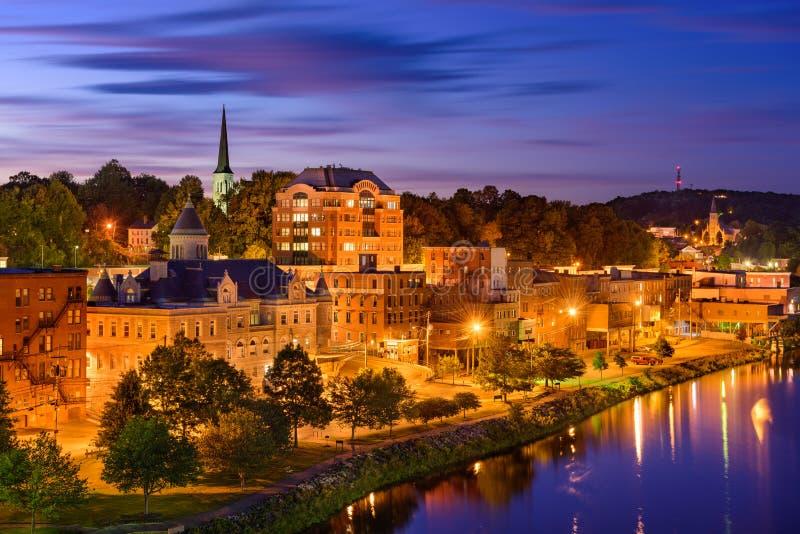 Augusta, Maine Skyline immagine stock libera da diritti