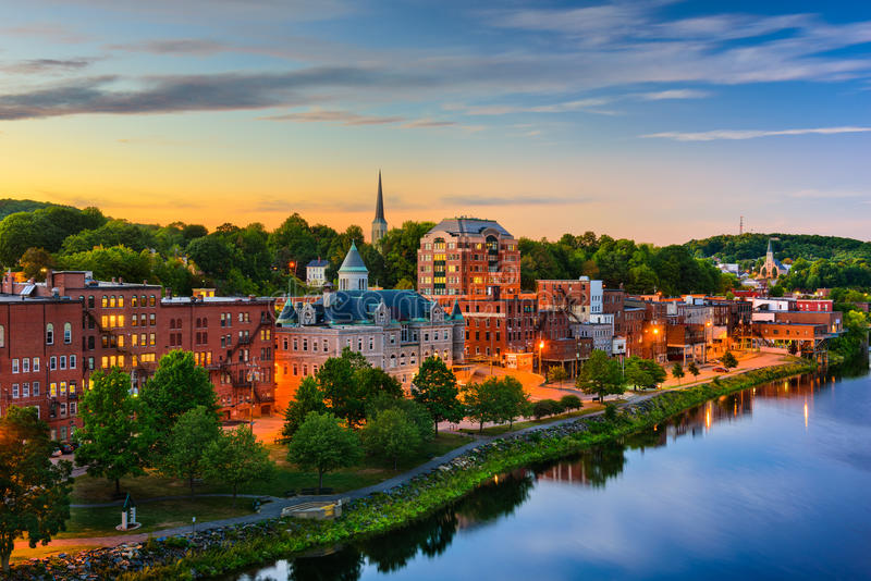 Augusta, Maine, USA stock photo