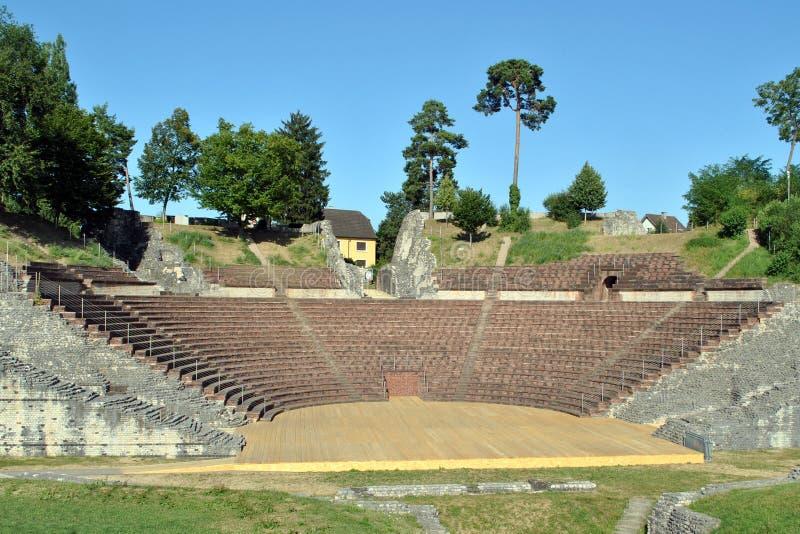 Augusta Raurica rzymianina theatre fotografia royalty free