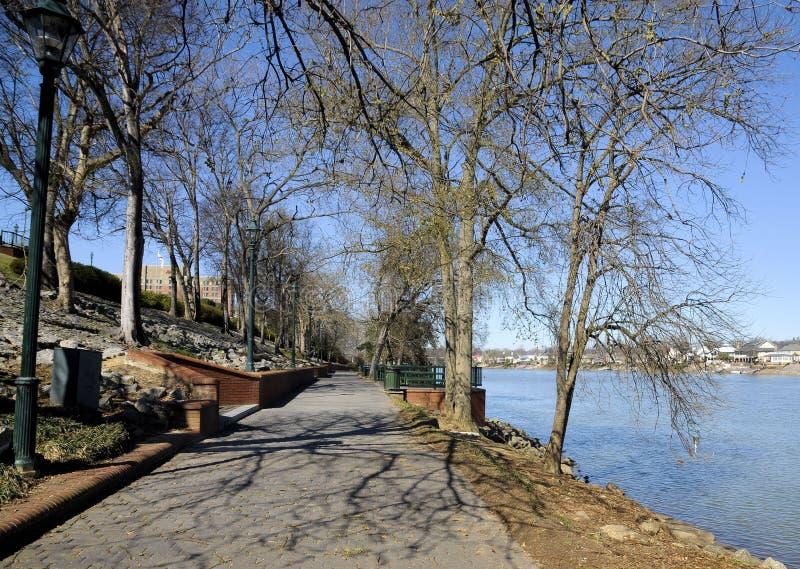 Augusta River Walk royalty-vrije stock foto's