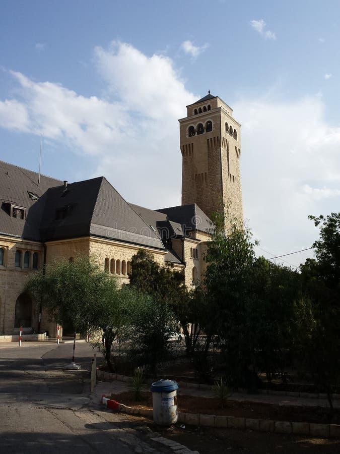 Tower of Augusta Victoria Hospital Jerusalem royalty free stock photos