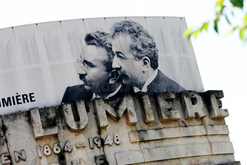 Auguste e Louis Lumiere fotografie stock