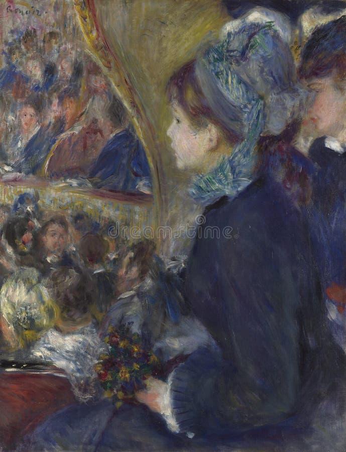 Auguste Renoir - al teatro fotografia stock libera da diritti