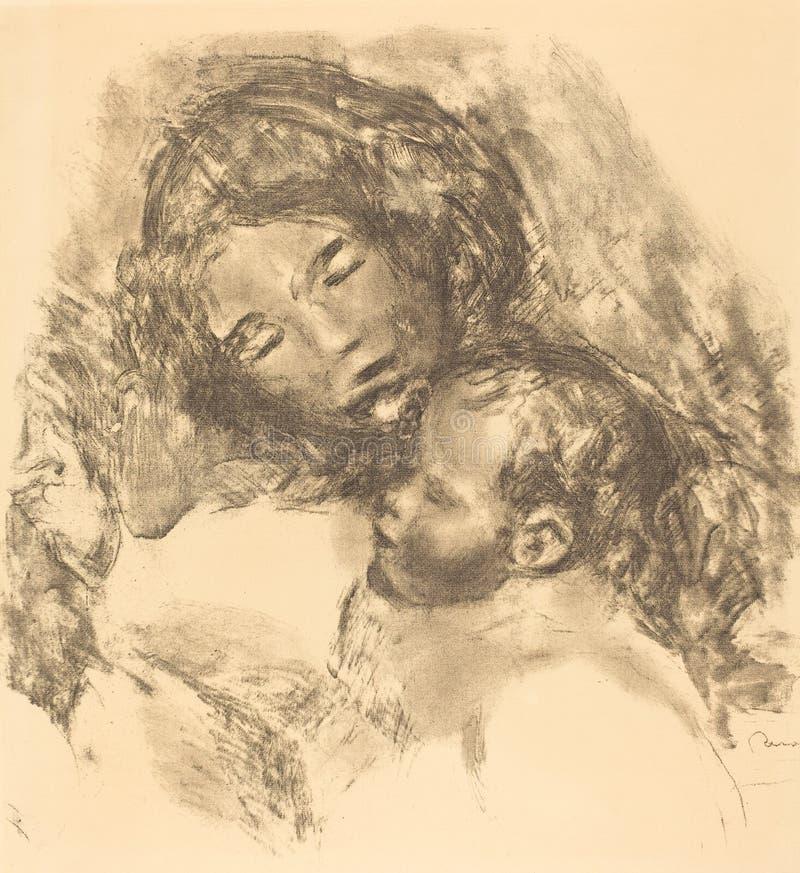 Auguste Renoir - di maternità immagine stock