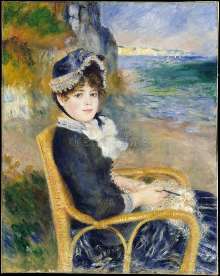 Auguste Renoir - durch die Küste lizenzfreie stockbilder