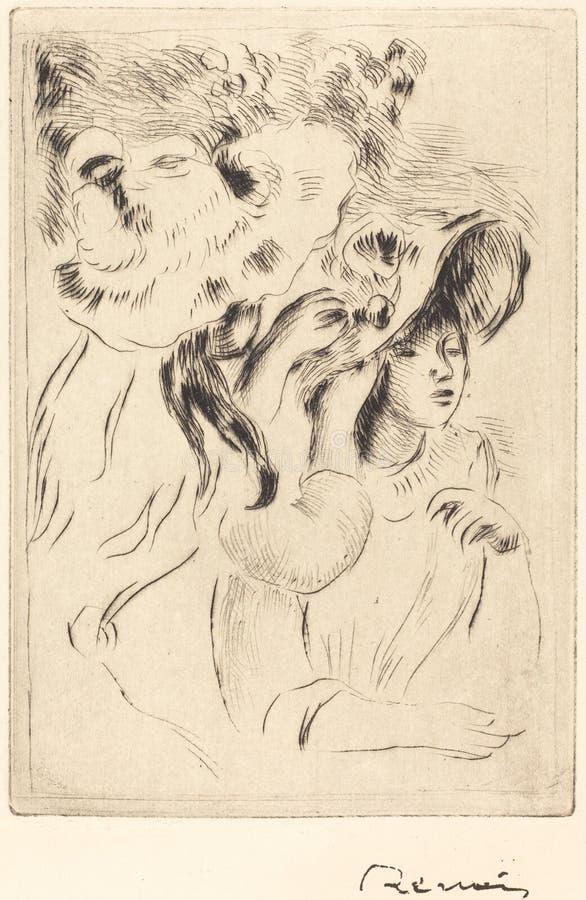Auguste Renoir - il Pin del cappello immagine stock libera da diritti