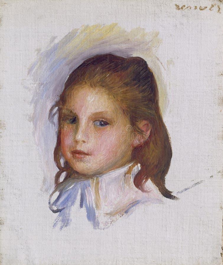 Auguste Renoir - Kind mit Brown-Haar stock abbildung