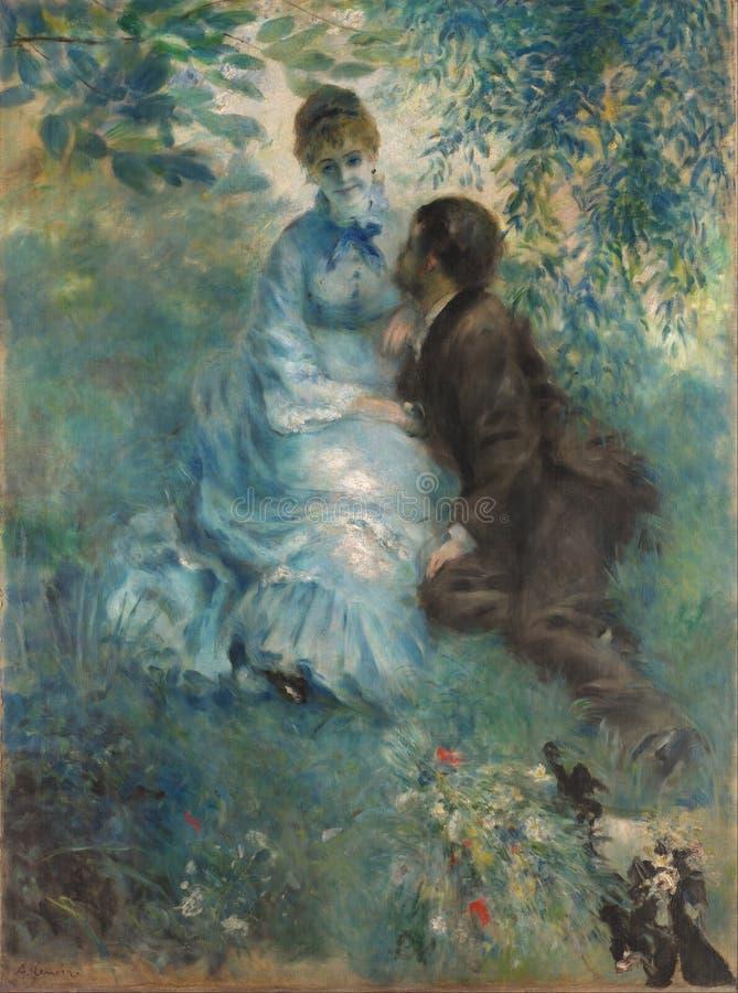 Auguste Renoir - kochankowie obraz royalty free
