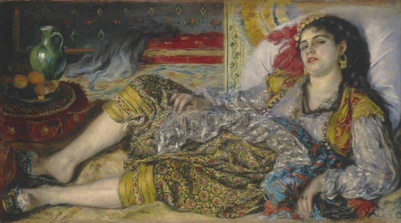 Auguste Renoir - Odalisque obraz royalty free