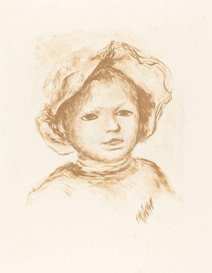 Auguste Renoir, Pierre Renoir - obraz royalty free