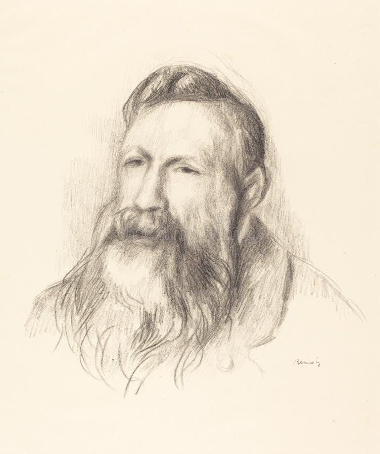 Auguste Renoir - auguste Rodin zdjęcia stock