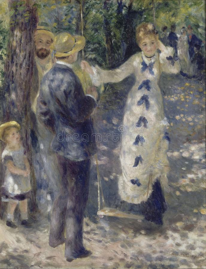 Auguste Renoir - the_swing immagine stock