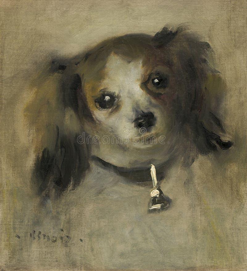 Auguste Renoir - testa di un cane fotografia stock libera da diritti
